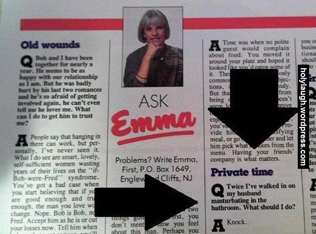 Good advice from Emma.