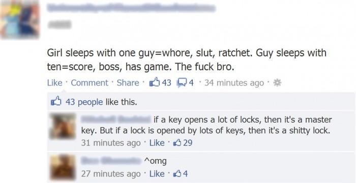 Wisest words ever spoken on facebook