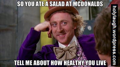 Eating healthy at mcdonalds