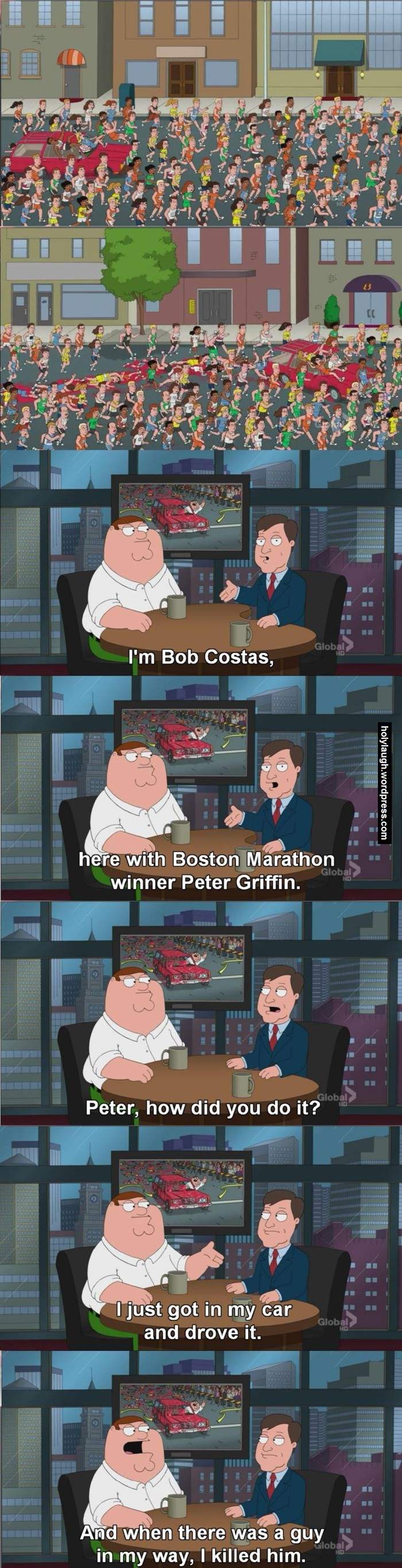 Peter Griffin marathon winner