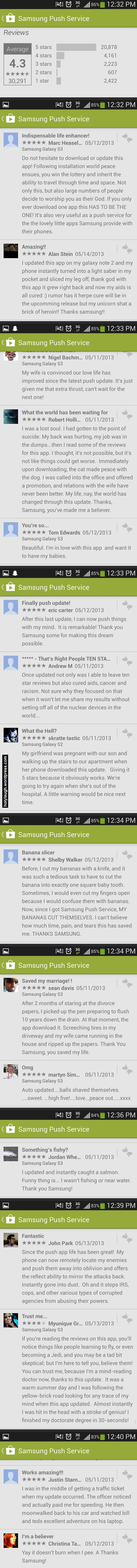Reviews for Samsung Push Service App