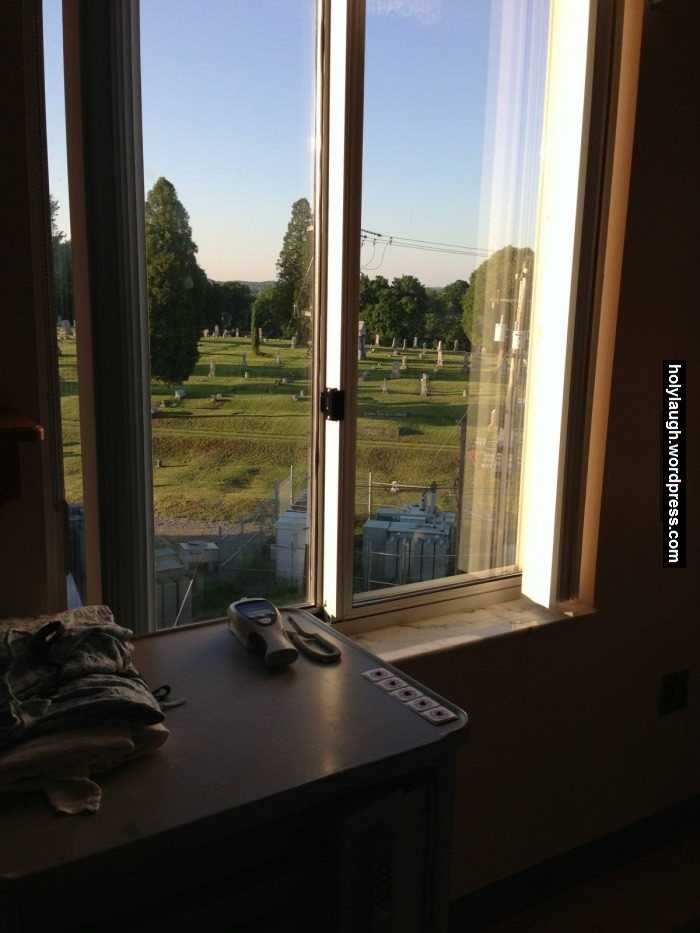 This is the view from a hospital's window