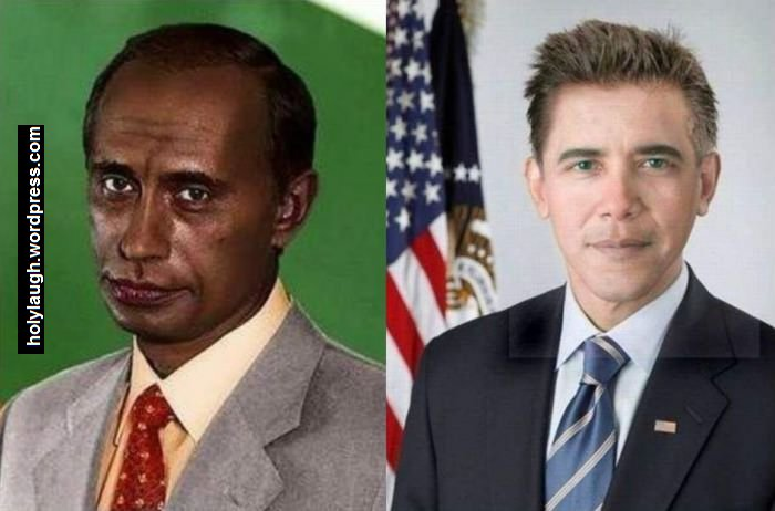 what if putin is black and obama is white