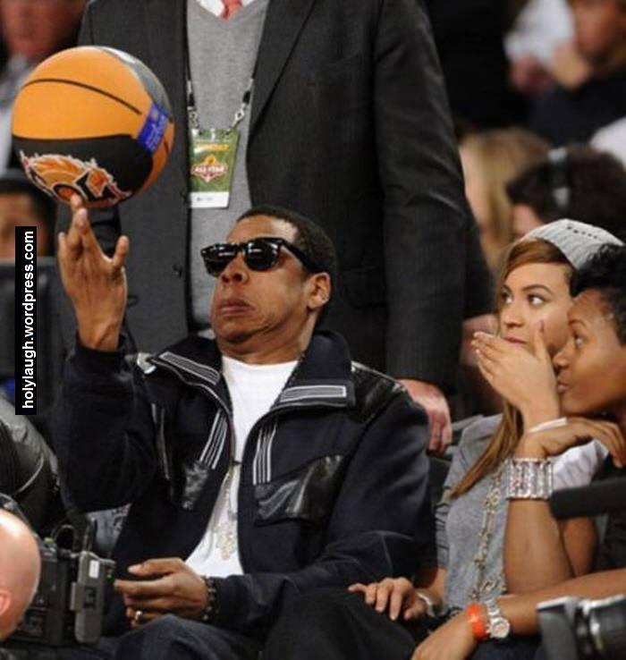 Jay Z doing basketball tricks