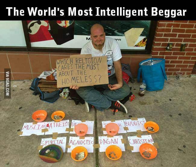 Clever beggar