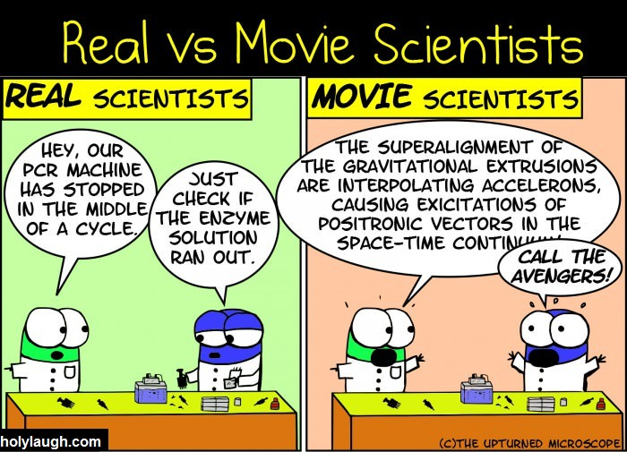 Movie scientist vs real scientist