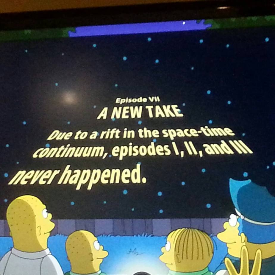 Simpsons Have Right Idea How to Start Next Star Wars